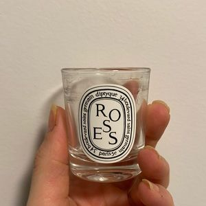 Diptyque Mini Rose Candle Jar. Empty & Cleaned out